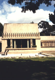 Hollyhock House Backyard