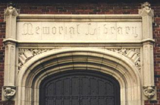 Memorial Library Door